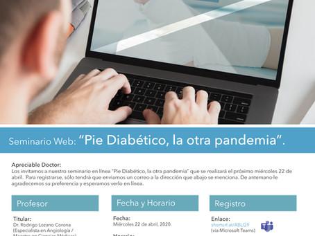 Seminario en Línea: Pie Diabético, la otra pandemia.