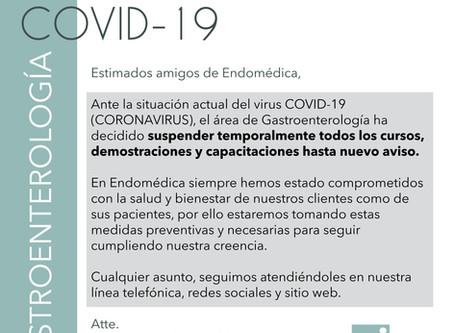 [Covid-19] Aviso - Gastroenterología