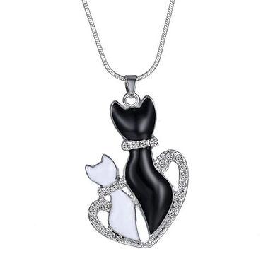 Verliebte Katzen Halskette