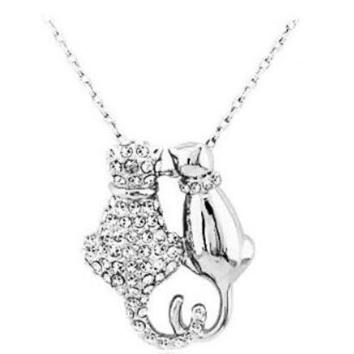 Liebende Katzen Halskette