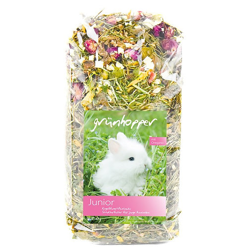 200g Grünhopper Junior | Mischfutter für Kaninchen | Größe XS