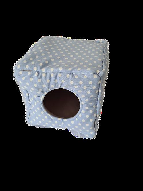 Kuschelwürfel | Kuschelhöhle | hellblau | 18 cm