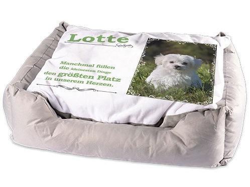 Personalisiertes Tierbett | Hunde- oder Katzenkörbchen | Design Lotte