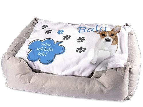 Tierbett | Hunde- oder Katzenkörbchen | mit Namen