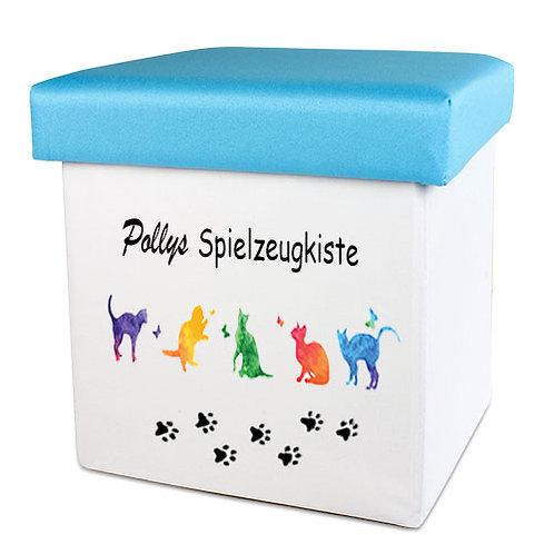 Faltbare Spielzeugkiste für Hunde und Katzen   Mit individuellem Namen