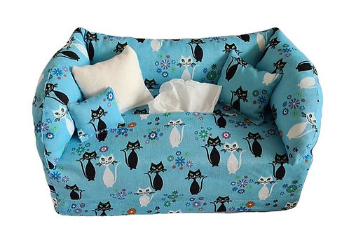 Taschentuchsofa | Sweet Kitty Cat blau