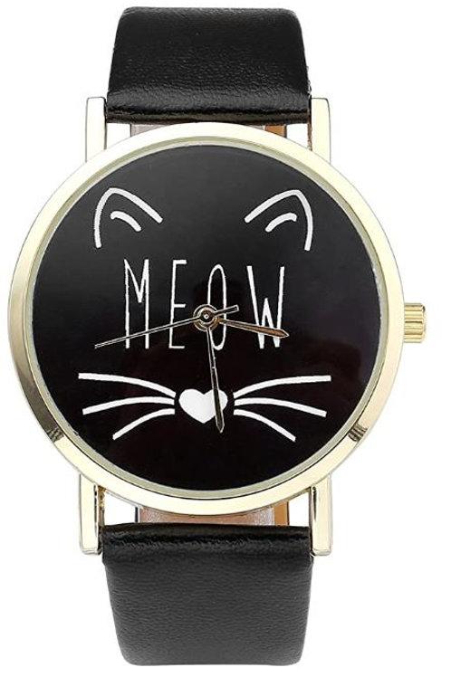 Damen Armbanduhr Meow