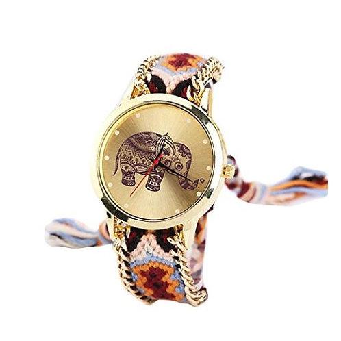 Damen Indianer Armbanduhr mit Elefant