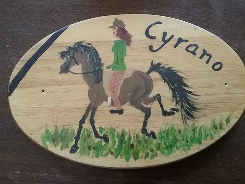 Pferdestallschild   Cyrano   individuell angefertigt