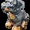 Thumbnail: Rottweiler Welpe liegend | Tierskulptur | Garten Deko