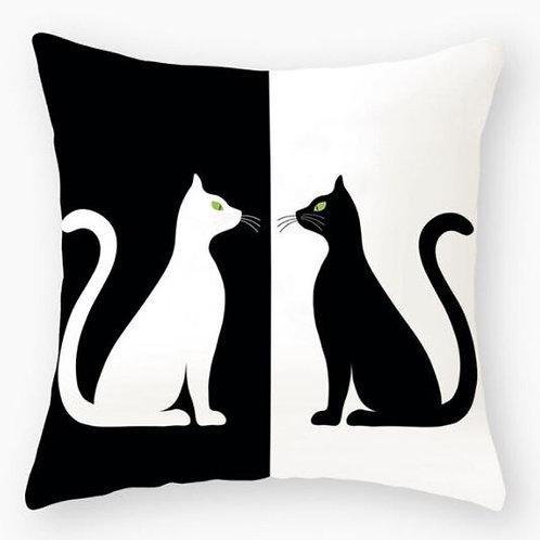 Katzen Kissenüberzug | Black and White Cats