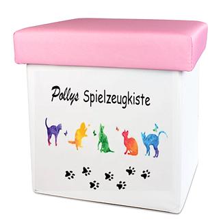 Katzen Hunde Spielzeugkiste rosa.png