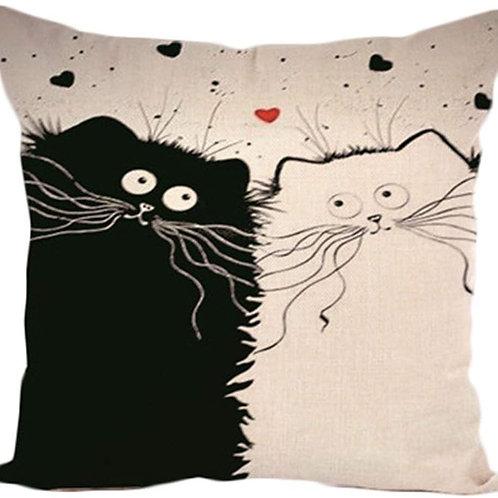 Katzen Kissen   Katzen Kisenüberzug   Verliebte Katzen