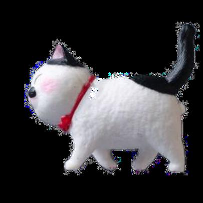 3D Katzen Kühlschrank Magnet | weißschwarze Katze
