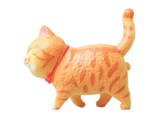 3D Katzen Kühlschrank Magnet | rote/braune Katze