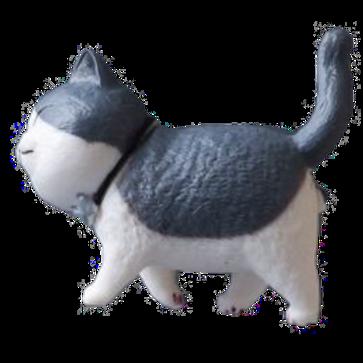 3D Katzen Kühlschrank Magnet | schwarz/weiße Katze