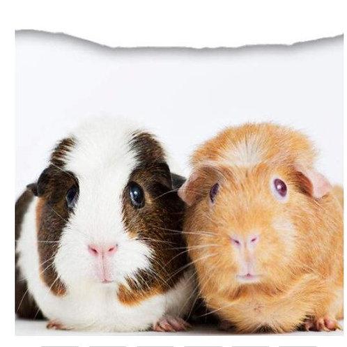 "Meerschweinchen Kissenüberzug 45x45 cm ""Wili & Rosali"""