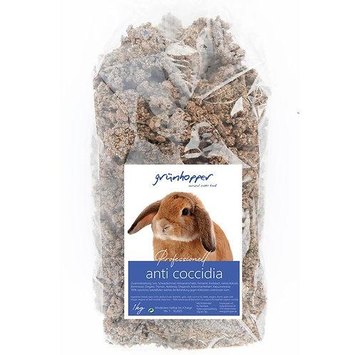 1kg Grünhopper Anti Kokzidien | Mischfutter für Kaninchen | Gr L