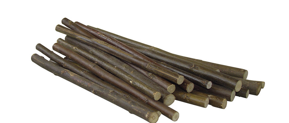 10 St. Weiden Knabberhölzer