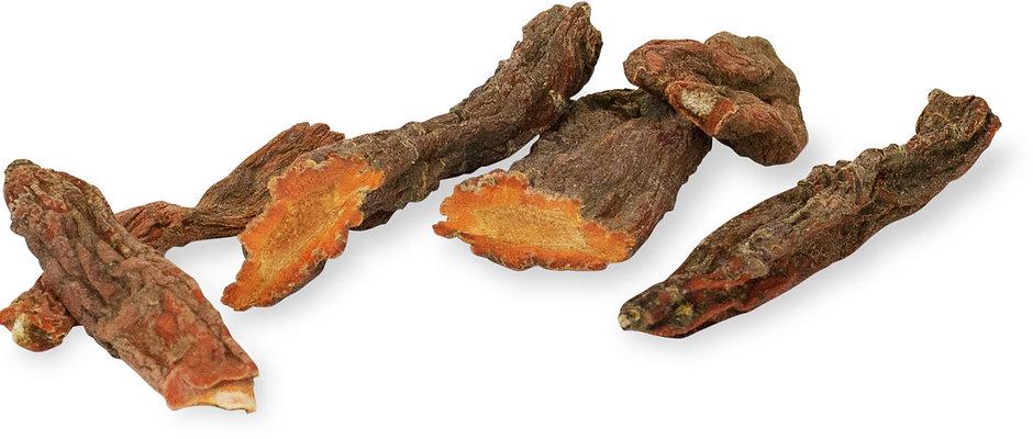 Getrocknete Karottenwurzeln