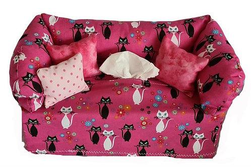 Taschentuchsofa   Sweet Kitty Cat pink
