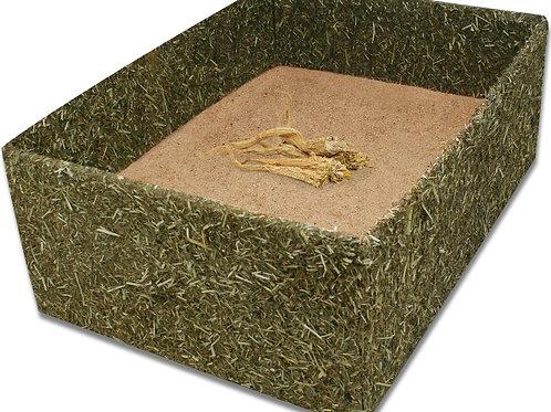 Kaninchen Buddelkiste mit Sand und Wurzeln
