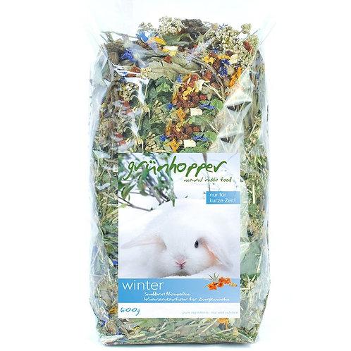 1kg Grünhopper Winter  | Mischfutter für Kaninchen | Größe S