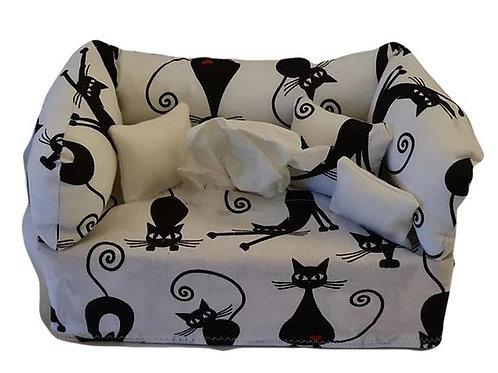 Taschentuchsofa | Schwarze Katzen