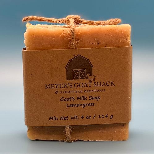 08-SHR | Lemongrass Goat Milk Soap, with Calendula Flowers