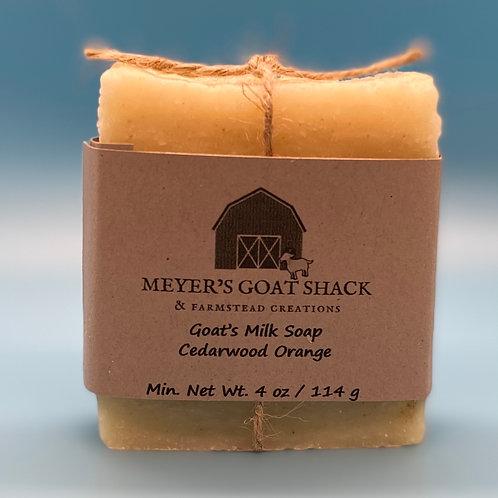 06-SHR | Cedarwood Orange Goat Milk Soap