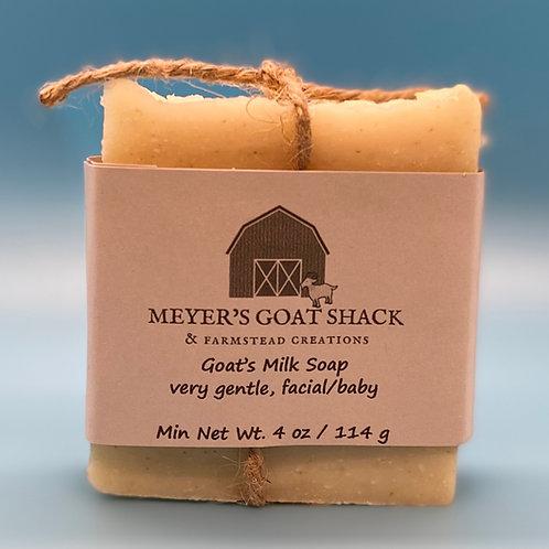 02-SHR | Colloidal Oat, Gentle, facial/baby Goat Milk Soap
