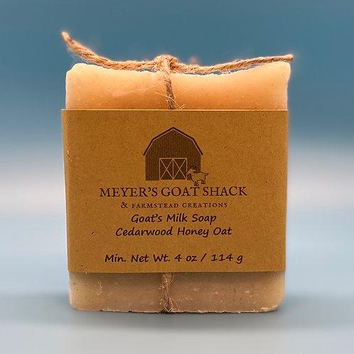 15B-HHR | Cedarwood Honey Oat Goat Milk Soap