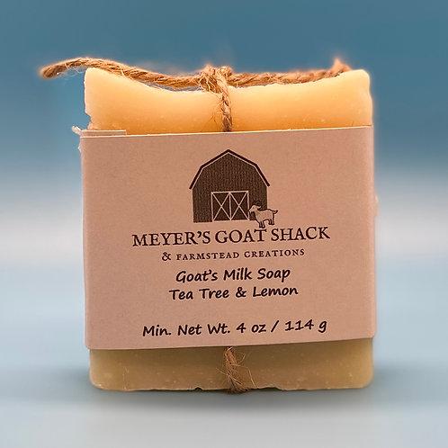 22-HHR-Tea Tree Lemon Goat Milk Soap