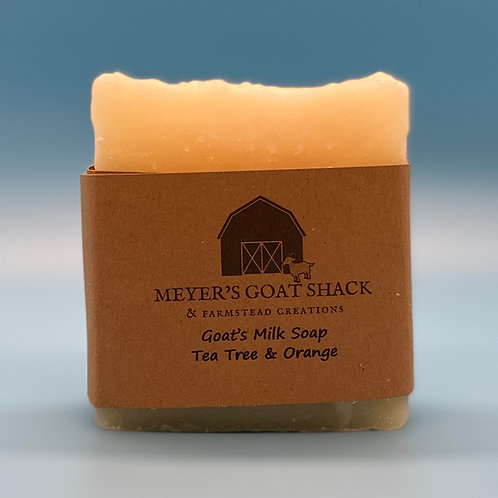 16-HHR | Tea Tree Orange Goat Milk Soap