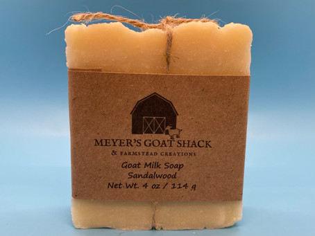 Sandalwood Goat Milk Soap - Only $6.50!