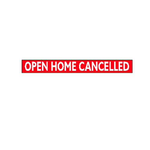 Generic Product - Open Home Cancelled Stickers(500mm x 60mm)