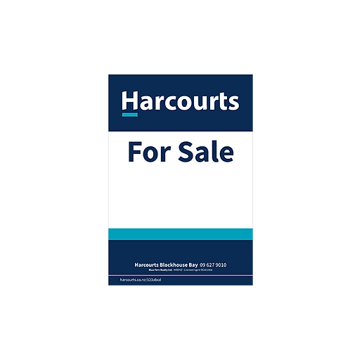 Harcourts - For Sale Site Sign(800 x 1180mm)
