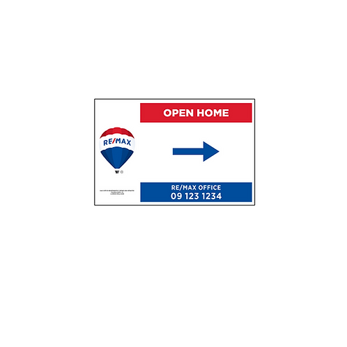 REMAX - Open Home Arrow Signs (450x300mm)