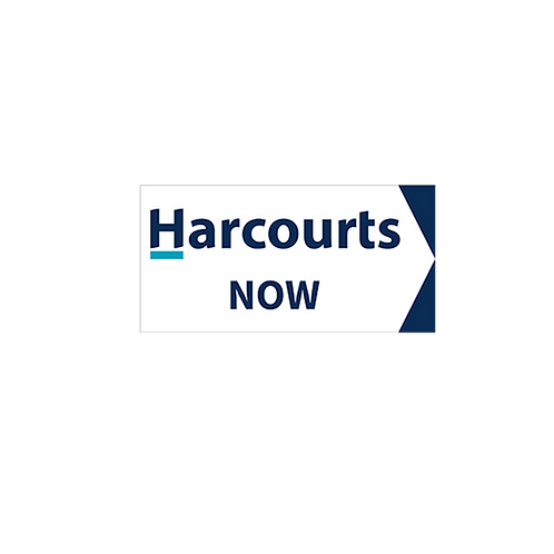 Harcourts - Now Directional Arrow Sign(580 x 290mm) Double Sided White