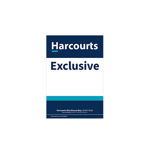 Harcourts - Exclusive Site Signs(580 x 880mm)