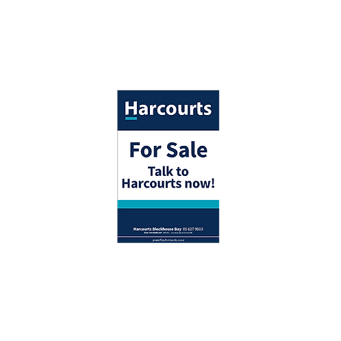 Harcourts - For Sale Talk to Harcourts Now(580 x 880mm)