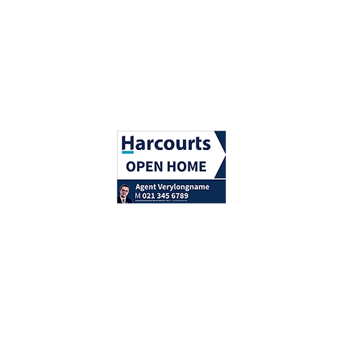 Harcourts - Agents Open Home Arrow Signs(450mm x 300mm)