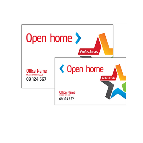 Professionals - Open Home Arrow Signs-Priced From