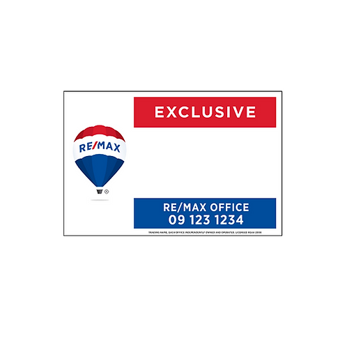REMAX -  Exclusive Site Signs(1200x900mm)