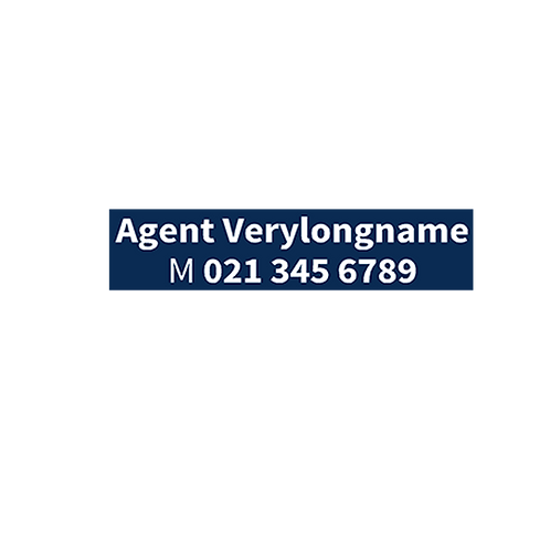Harcourts - Small Agents A/Hrs Sticker 425x100mm- For Potrait