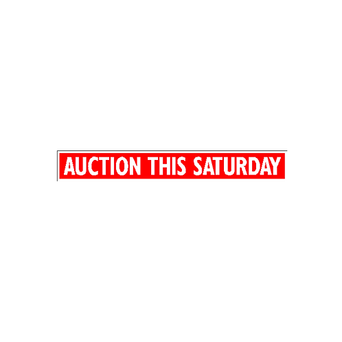 Generic Product - Auction This Saturday Sign Strip(900mm x 120mm)