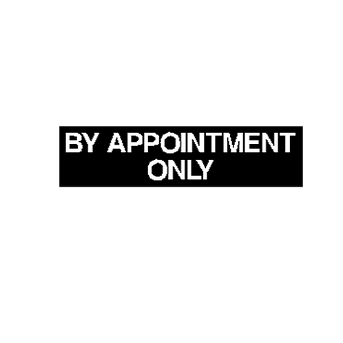 Generic Product - 'By Appointment Only' Sticker (360mm x 90mm)