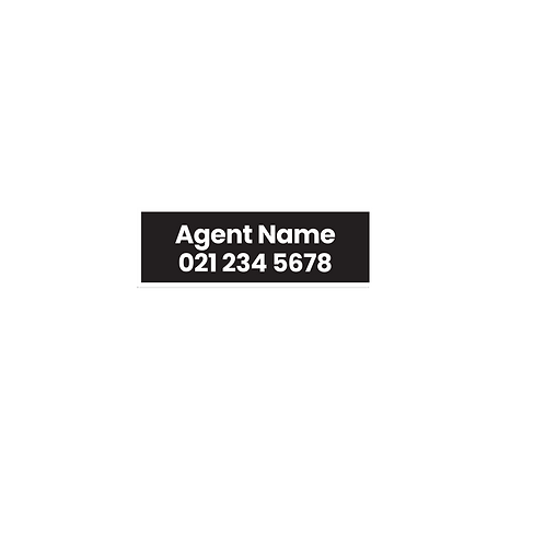 LJ Hooker - Agent After Hours Corflute Sign(600mmx200mm)