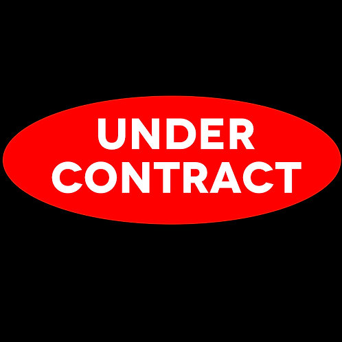 Harveys - Large Under Contract Oval Sticker(600mm x 240mm )