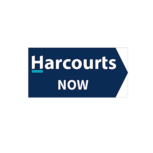 Harcourts - Now Directional Arrow Sign(580 x 290mm) Double Sided Blue